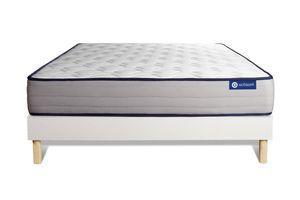 Actimemo form matratze 140x220cm + Bettgestell mit lattenrost , Härtegrad 4 , Memory-Schaum , Höhe : 22 cm