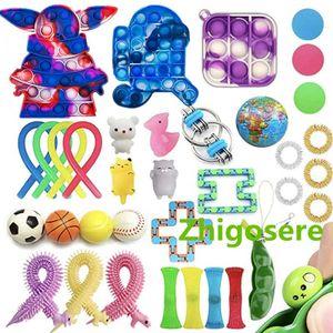 35 Stück Tom's Fidgets Push Bubble Fidget Antistress Toys Erwachsene Kinder Pop Fidget Sensory Toy