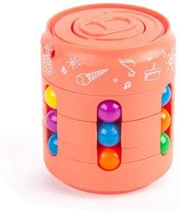 NightyNine Magic Bean Rotating Cube Toy, Kreatives Magic Bean rotierendes Spielzeug Kinder Intelligence Fingertip Zauberwürfel Development Lernspielzeug Intellektuelles Spiel für Kinder Stress Angst Linderung - Orange
