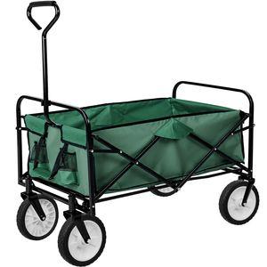 tectake Faltbarer Bollerwagen - grün