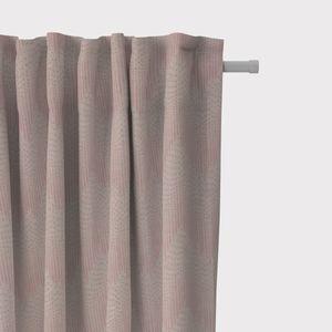 SCHÖNER LEBEN. Vorhang Vorhangschal mit Smok-Schlaufenband Chevron Zacken Punkte natur rosa 245cm oder Wunschlänge