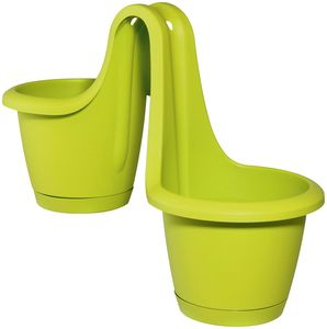 Geländertopf Respana Twins in vesch. Farben, Farbe:maigrün / mintgrün