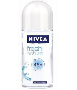 NIVEA Fresh Natural, Frauen, Antitranspirant, Roll-on Deodorant, Box, Universal, 50 ml