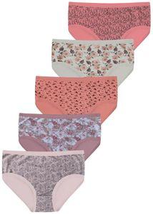 5 Damen Taillenslips Slips aus Baumwolle Gr. Modell 2 50-52