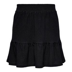 Only Röcke normal Damen ONLSAGA SKIRT JRS Größe L, Farbe: 177911 Black