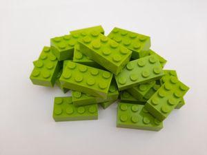 Lego© Steine 25 originale basic Bausteine in Lime mit 2*4 Noppen *neu und unbespielt*