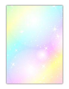 Rainbow Motiv-Briefpapier (MPA-5215, DIN A4, 25 Blatt) Motivpapier knallig bunt Regenbogenfarben mit Sternen