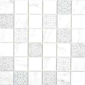 GLAS Mosaik ECO Carrara Mosaikfliese Wand Fliesenspiegel Küche Bad