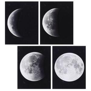 4er-Set Wandbilder Kunstdruck Leinwand Bilder für Wohnzimmer Schlafzimmer Nachbildung -Mond
