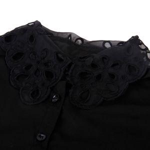 2xOrganza Stickerei Blusen Einsatz Blusenkragen Krageneinsatz abnehmbare Shirt