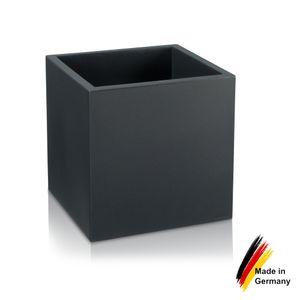 Pflanzkübel CUBO 50 Kunststoff Blumenkübel, 50x50x50 cm (L/B/H), Farbe: anthrazit matt