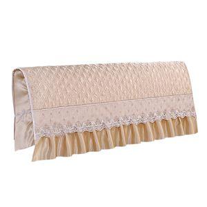 Kopfteilbezug aus Polyester für das Bett. Waschbar, staubdicht, gesteppt Beige 220 cm