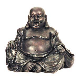 Große Buddha Figur sitzt und lacht 25 cm Feng Shui Asia Buddhismus