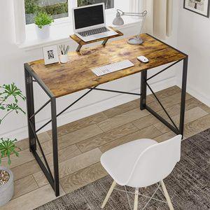 Schreibtisch Klapptisch Computertisch Einfacher Kleiner Tisch für das Home Office, platzsparend (Retro+ständer)
