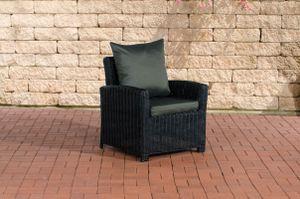CLP Sessel Fisolo 5mm, Farbe:schwarz, Polsterfarbe:Anthrazit