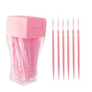 200 STš¹CKE Zahnstocher Kunststoff Doppelend-Zahnstocher Zahnreinigungswerkzeug Zahnpflegestifte