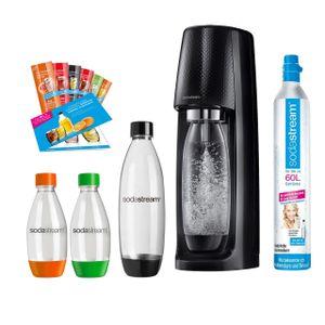 SodaStream Easy Vorteilspack Wassersprudler, 1 Zylinder 4x PET Flasche, Sirup Probe