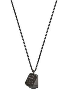 Emporio Armani EGS2515001 Herren Collier Silber Schwarz 52 cm