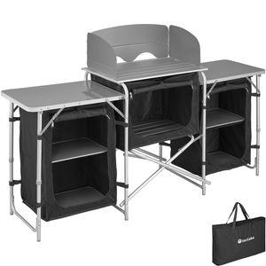 tectake Campingküche 172x52x104cm - schwarz