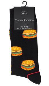 """Vincent Creation® Lustige Socken """"FAST FOOD"""" 3 Paar 36-40"""