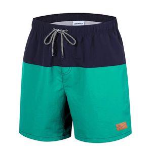 Herren Badehose Shorts Schwimmhose Badeshorts , Farben :Dunkelgrün , Größe Shorts: M
