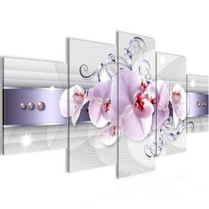 Blumen Orchidee BILD :200x100 cm − FOTOGRAFIE AUF VLIES LEINWANDBILD XXL DEKORATION WANDBILDER MODERN KUNSTDRUCK MEHRTEILIG 007951a