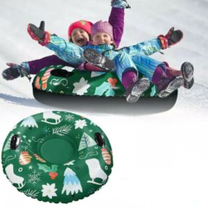 120cm PVC Aufblasbarer Schnee Schlitten Schwimmendes Skiboard Winter Skiringe Skikreis Outdoorspielzeuge