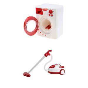 Mini Elektrische Waschmaschine & Staubsauger Wohnmöbel Vorgeben Spielen
