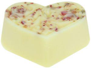 Bodycremeherz Rosenblüte 80g, Body Butter, natürliche Hautpflege mit Bio Kakaobutter, Naturkosmetik
