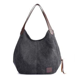 Handtasche Fashion Damen Schultertasche Multi-Beutel Tasche Henkeltaschen Shopper, Schwarz