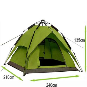 Campingzelt Kuppelzelt Wurfzelt 2/3 Personen, Sekundenzelt  240x210x135cm( Hell Grün) 2001 Abverkauf