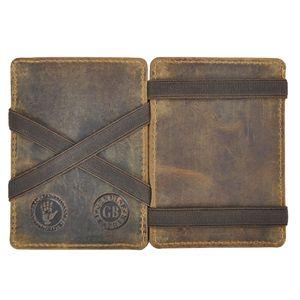 Greenburry Magic Wallet Minibörse Geldbörse Leder braun Vintage Portemonnaie 1608-25