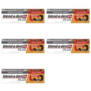 5 x Blend-a-dent Premium Haftcreme Duo Kraft 40g