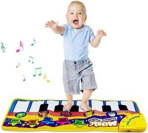 Piano Mat Tanzmatten Klaviermatte Musikmatte Kinder 8 Tierstimmen Klaviertastatur Spielzeug Musik Matte, Keyboard Matten Spielteppich Baby Tanzmatte für Jungen Mädchen Kinder