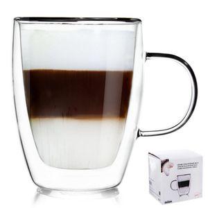 ORION Teeglas Kaffeeglas Doppelwandig Gläser Thermoglas für Kaffee Tee 300 ml