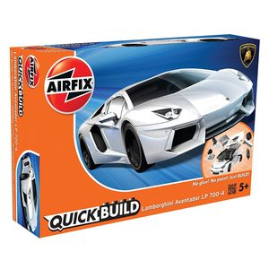 Airfix Quick Build Lamborghini Aventador Plastik Fahrzeug Modellbau Bausatz