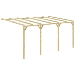 vidaXL Anlehn-Pergola 5 x 3 x 2,1 m Holz
