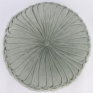 Kissen Samtkissen rund salbeigrün 60x12cm