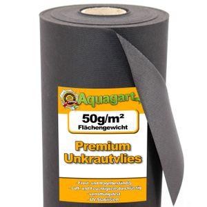 Aquagart 56m² Gartenvlies Unkrautvlies Mulchvlies Vlies 50g 1,6m breit