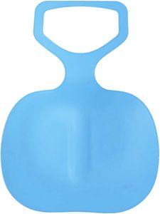 Schneeschlitten Kinder Schneerutscher Poporutscher Schnee Flexibel Kunststoff Rutscher Schlitten(Blau)