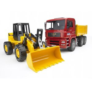 MAN TGA Kipplastwagen mit Gelenkradlader FR130