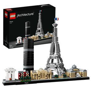 LEGO 21044 Architecture Paris Skyline-Kollektion, Baumodell mit Eiffelturm und Louvre, Geschenkidee für Sammler