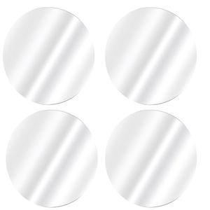 8 Stück Spiegelfliesen rund je Ø 20cm