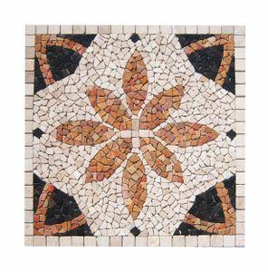 Mosaikfliesen RO-005 Marmor Rosone Naturstein Fliesen Lager Verkauf Stein-Mosaik Herne NRW