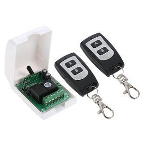 Fernbedienungsschalter mit zwei Sender für Garagentorsteuerung, Lichtsteuerung, Motorsteuerung, Türzugangskontrollsystem