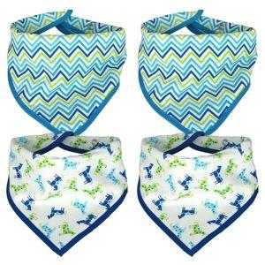Baby Halstuch - Dreieckstücher 4er Set - blau