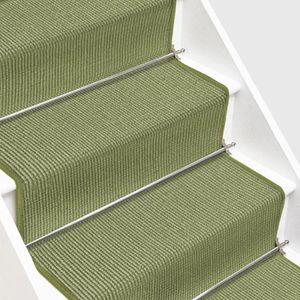 Sisal-Treppenteppich auf Maß Sylt Heu Breite: 80 cm, Länge: 500 cm
