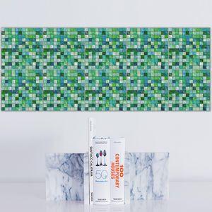 Fliesenaufkleber Mosaik 20 x 20cm Fliesendekor für Küche Bad Grün 20x20cm