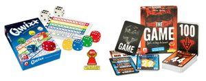 Spiele-Set mit QWIXX Würfelspiel und The Game Kartenspiel als Vorteilspack, beide Spiele wurden bereits zum Spiel des Jahres nominiert