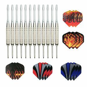 Dartpfeile mit Metallspitze, 12 Stück Steel Darts Pfeile Set, 18 Gramm Profi Steeldarts